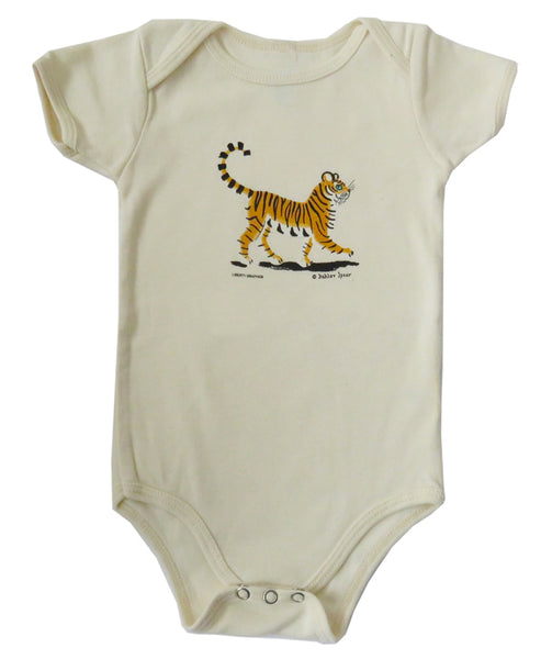 Dahlov Ipcar's Little Tiger Organic Infant Natural One-piece
