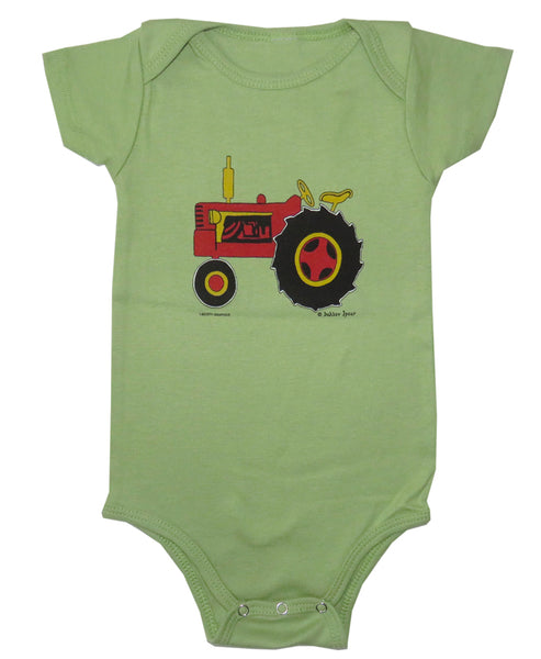 Dahlov Ipcar's Little Tractor Organic Infant Avocado One-piece