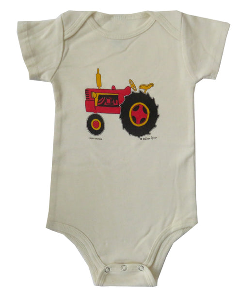 Dahlov Ipcar's Little Tractor Organic Infant Natural One-piece
