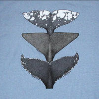 Whale Tails of the Pacific Adult Stone Blue T-shirt