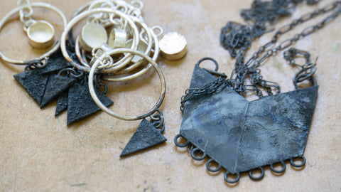 Silver Jewelry with Patina