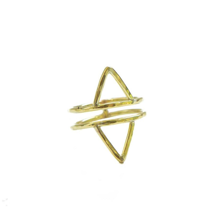 Double Power Ring, 14k Gold Fill
