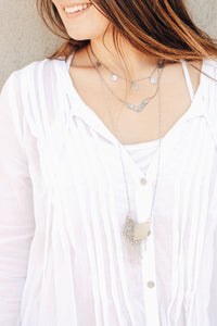Duo-Tone Chevron Necklace