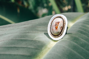 Mexican Fire Opal Composition 1