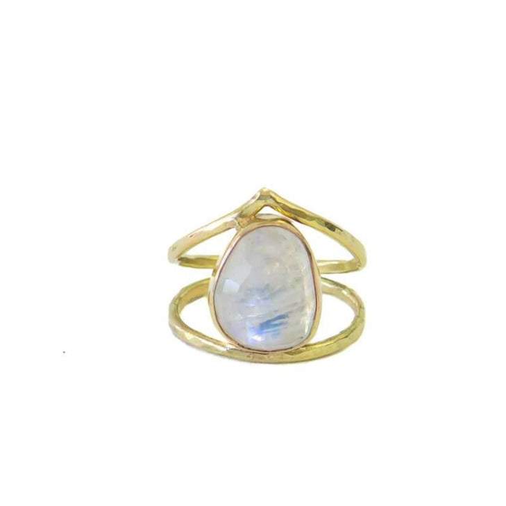 Neptune Arc Ring, Moonstone