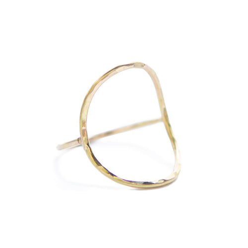 Open Saddle Ring, 14k Gold Fill