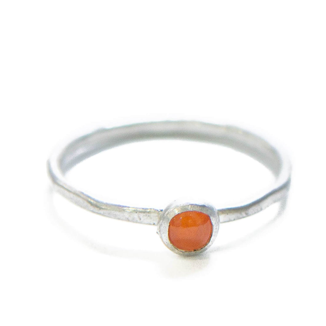 Gem Stackable Ring, Carnelian