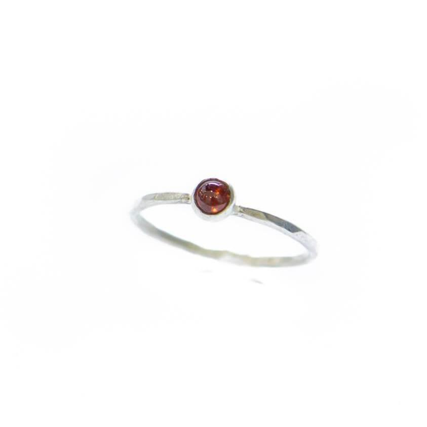 Small Gem Stackable Ring