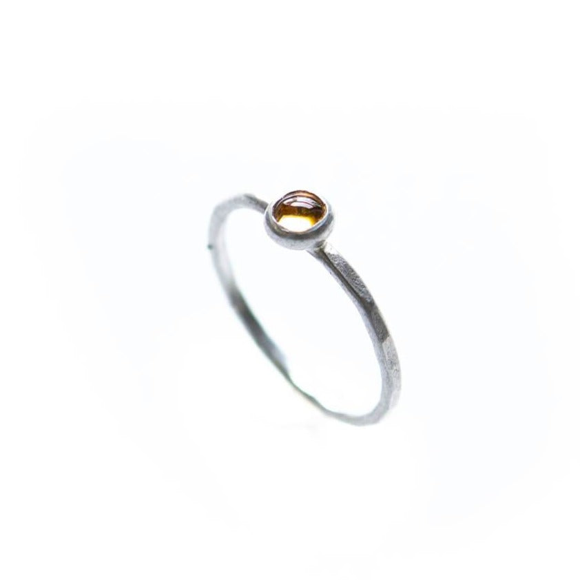 Gem Stackable Ring, Citrine