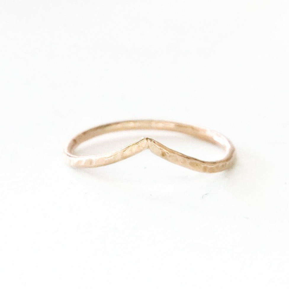 Soft Arch Stackable Ring, 14k Gold Fill