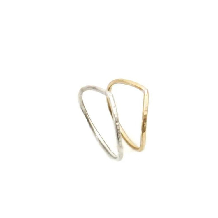 Soft Arch Stackable Ring, Silver