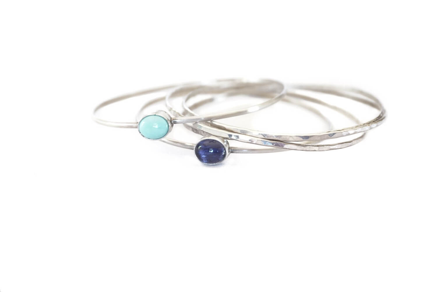 Stackable Bangle W/ Gemstone