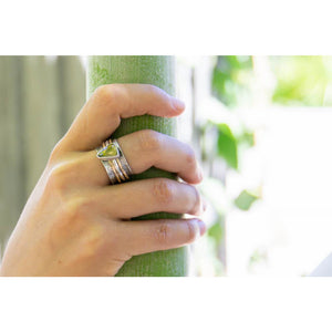 Green Tourmaline Spinner Ring