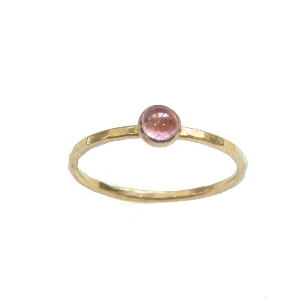 Gem Stackable Ring, Pink Tourmaline