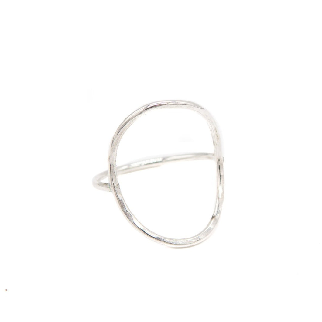 Open Saddle Ring, Silver