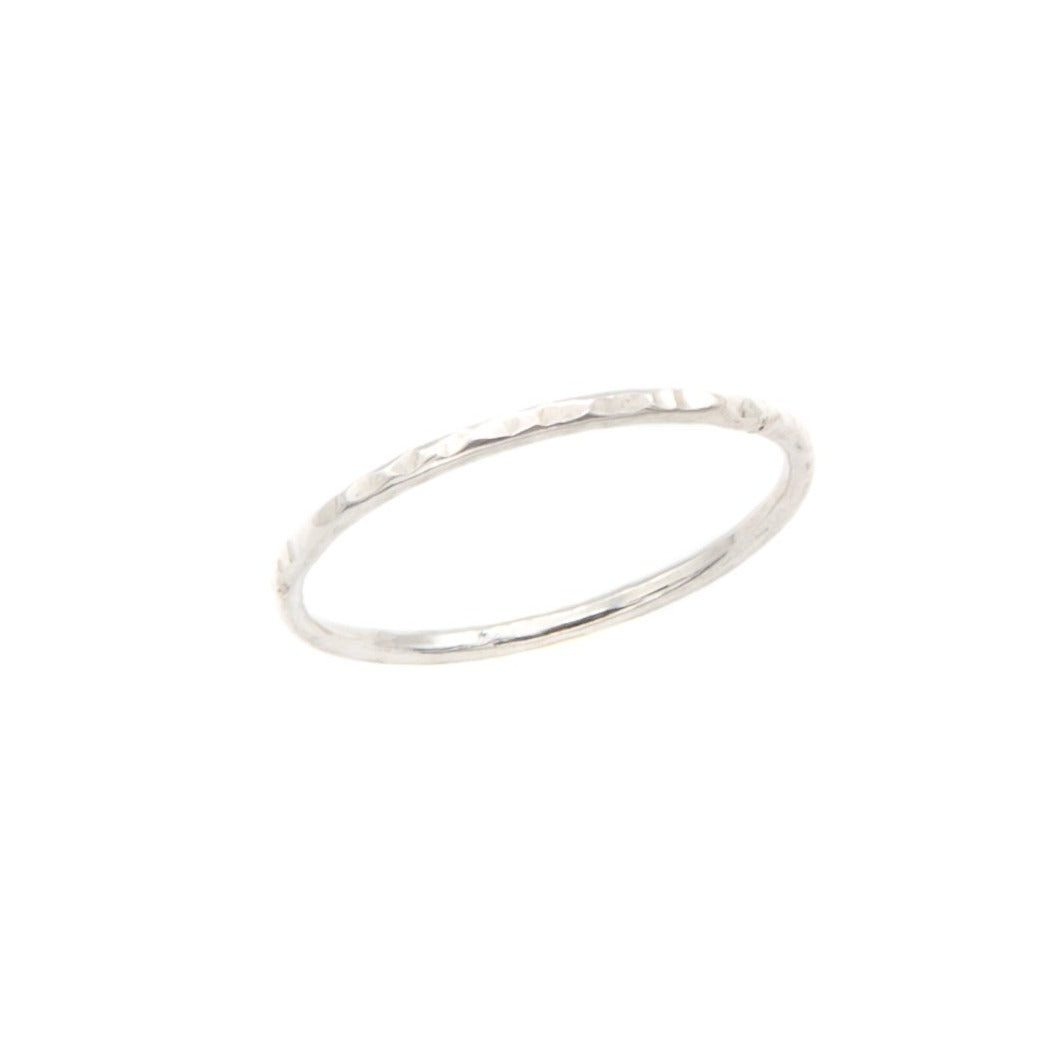 Chic Stackable Ring, Silver