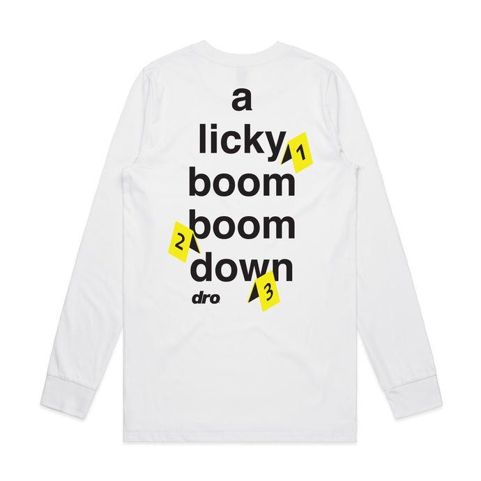 DRO Licky Boom Boom White Long Sleeve