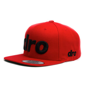 DRO Red Snapback Black Logo