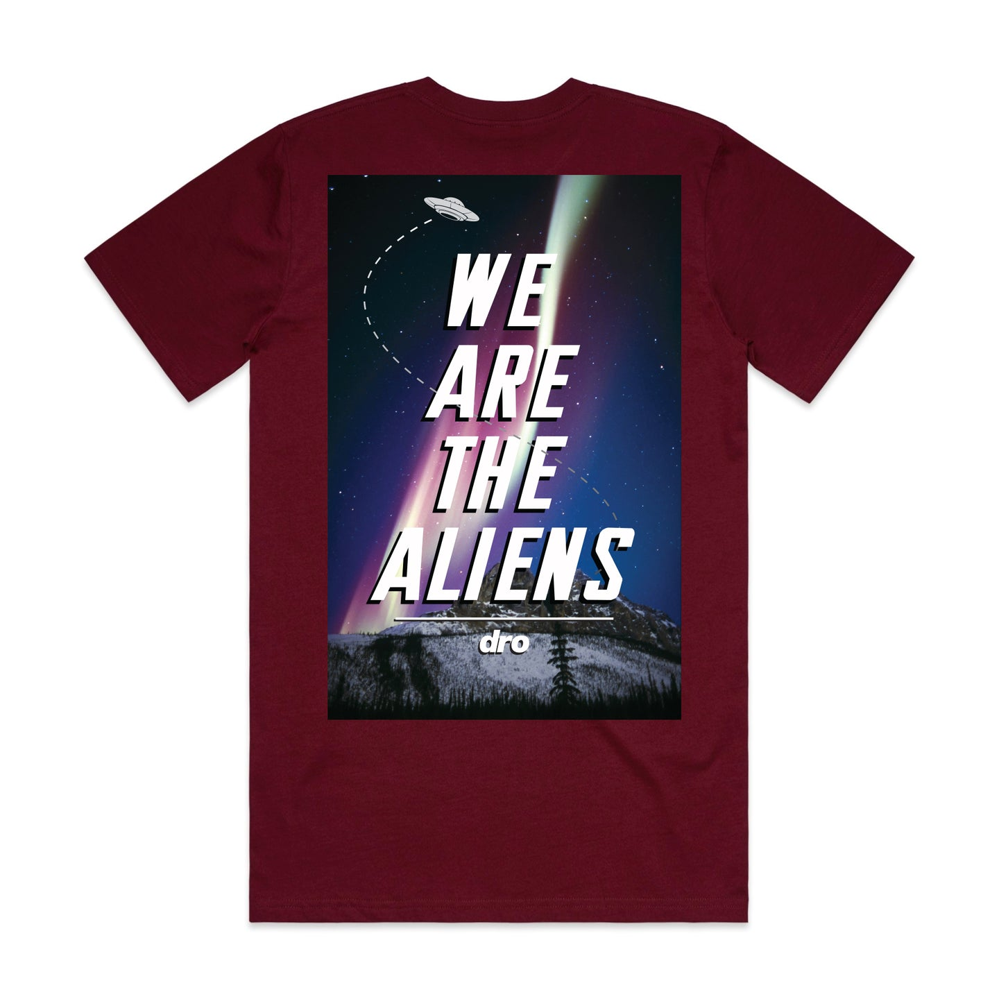 DRO Aliens Burgundy T-shirt