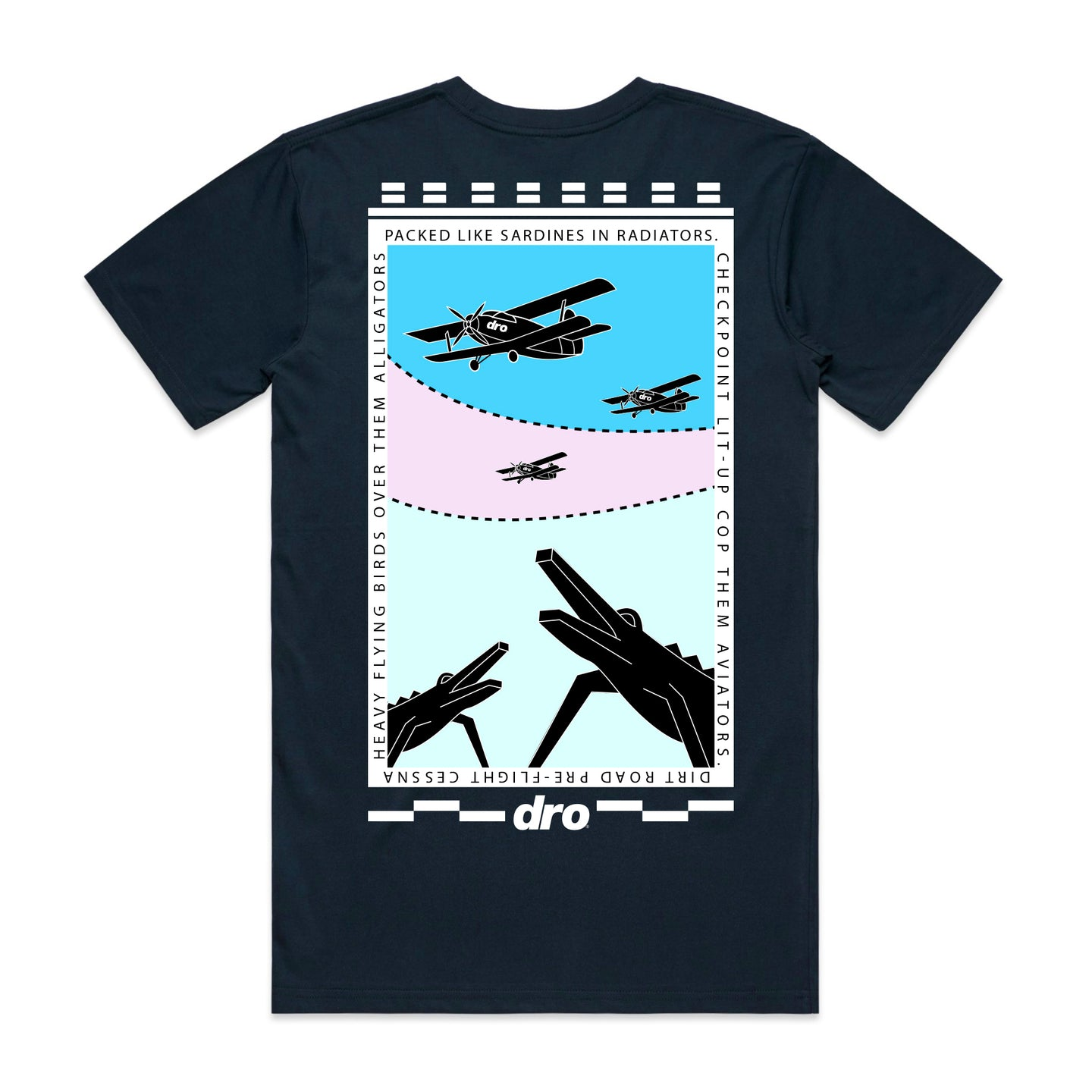 DRO Alligators Navy T-shirt