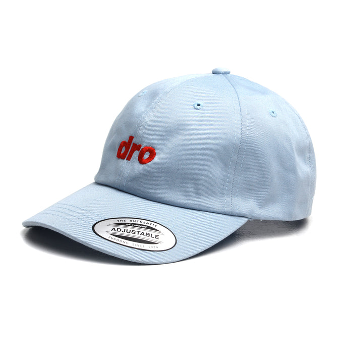 DRO Blue Dad Hat Red Logo