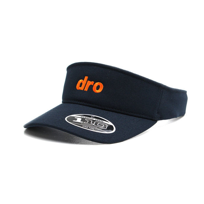 DRO Navy Visor Orange Logo