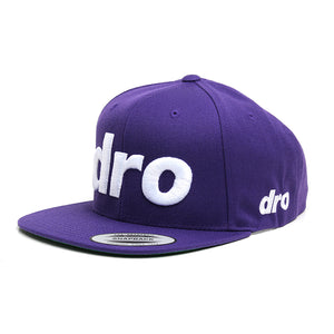 DRO Purple Snapback Gray Logo