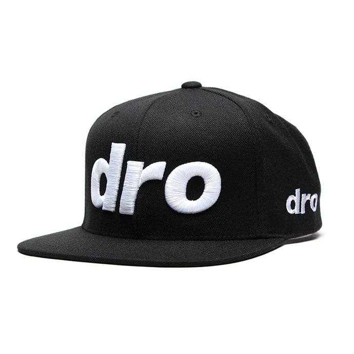 Black Snapback with White DRO Logo