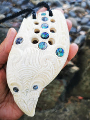 Tohora - Whales Tooth with Paua Inserts