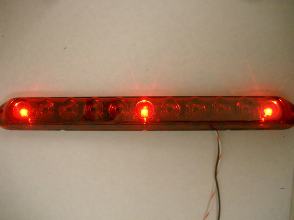 "15"" Slimline LED ID Light Bar Red Lens Innovative (251-4400-1)"