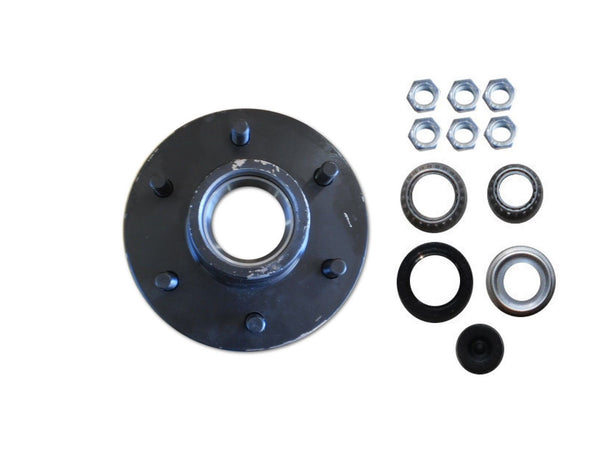 1 - Trailer Hub Convert Mobile Home with Bearings 6000# 6 Lug 6x5.5 Idler Axle (100-0751-KIT)