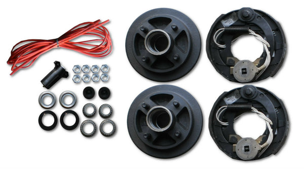 "Add Electric Brakes to trailer Complete kit 2000# Axle 4 Lug 4x4"" 7"" drum axel (817316-C-DEX)"