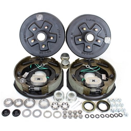 "Import 3500# Trailer Axle Self-Adjusting 10"" Electric Brake Kit 5x4.5 Bolt Circle (94545-B-FSA-IMP-K1)"
