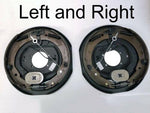 "Pair of Trailer Backing Plate Brakes Electric 12"" Self Adjust 7000 Left Right (BK-12E-FSA-SET)"