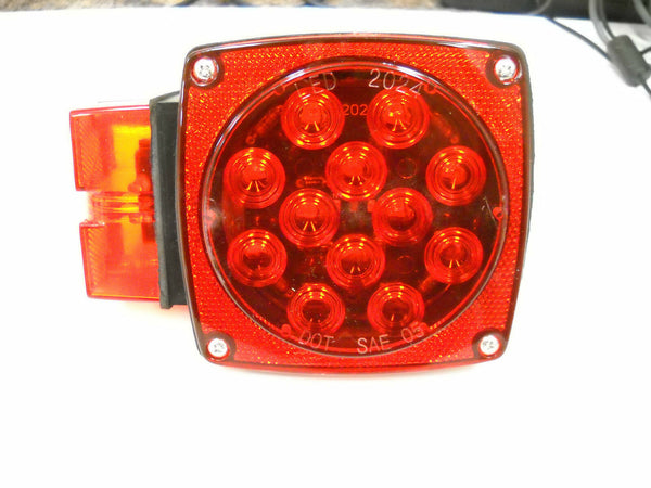 Jammy Submersible Over 80 Left Side LED Red with Red Lens Light Truck Trailer RV (J-20445-L)