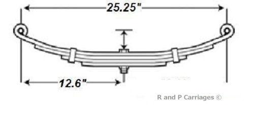 "1- New 25.5"" Trailer 3 Leaf Spring 1000#-1250# each (2000# & 2200 axle) Camper (PR722)"