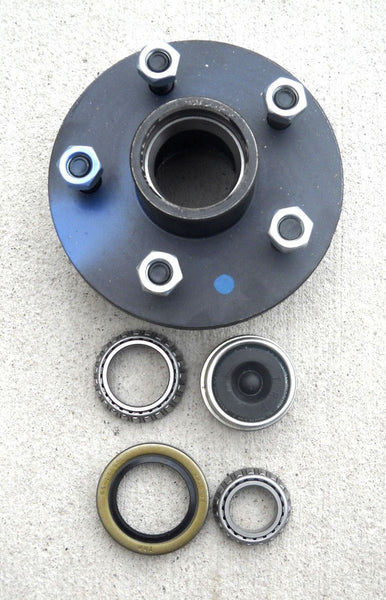 1- 5x4.5 Idler Hub with 3500# Bearing Kit Replace Trailer Axle fits Dexter ALKO (SH2RV545-KIT)