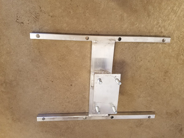 "Custom 6 Lug R & P Aluminum Trailer Spare Tire Wall Mount Bracket 16"" stud spacing (STC-AH-16-6-KIT)"