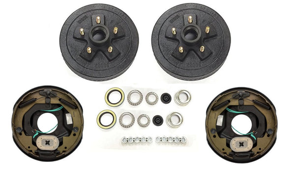 "Tru Ryde 3500# Basic Add Brakes to Your Trailer Kit with 10"" Backing Plates and Drums"