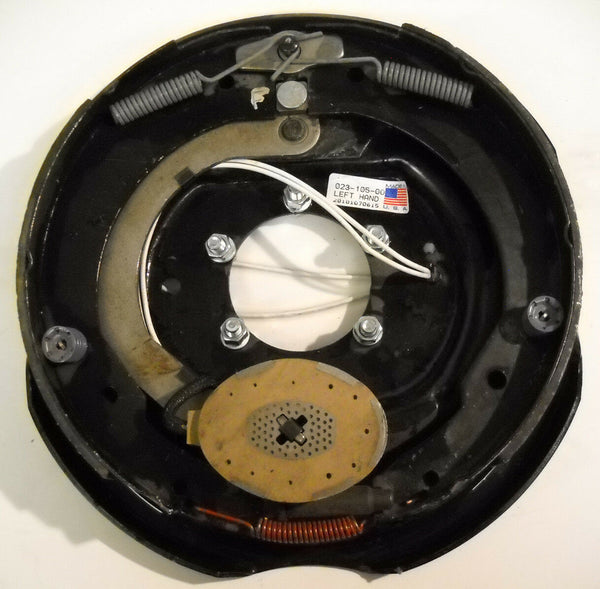 "12"" Genuine Dexter Trailer Electric Backing Plate Brake 5200 6000 7000 Left Side (023-105-00)"