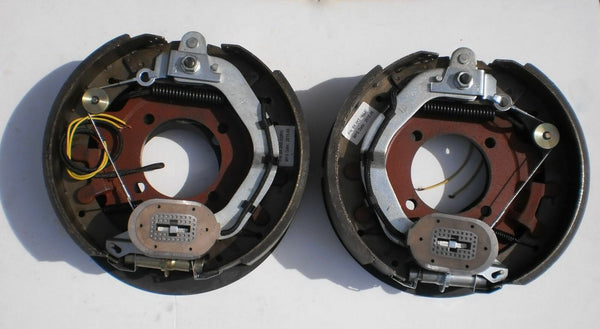 2 x 12-1/4 x 3-3/8 8000 Electric Trailer Backing Plate Brake Fits Dexter 8K Axle (BK-8KE-SET)