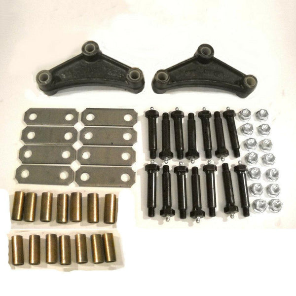 "Tandem Axle Trailer Spring Suspension Rebuild Kit Wet Bolt 2.6"" Straps 3500 Brass Short(SRK-TA-WB-SE-BB)"