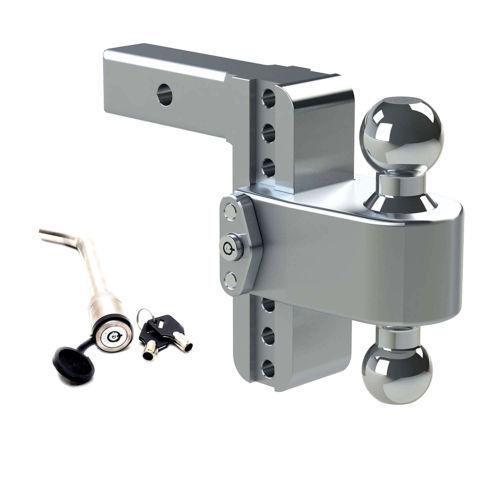 "Weigh Safe Aluminum 180 Ball Mount fit 2.5"" Receiver 6"" Drop 7"" Rise 14.5k Rated (LTB6-2.5-KA)"