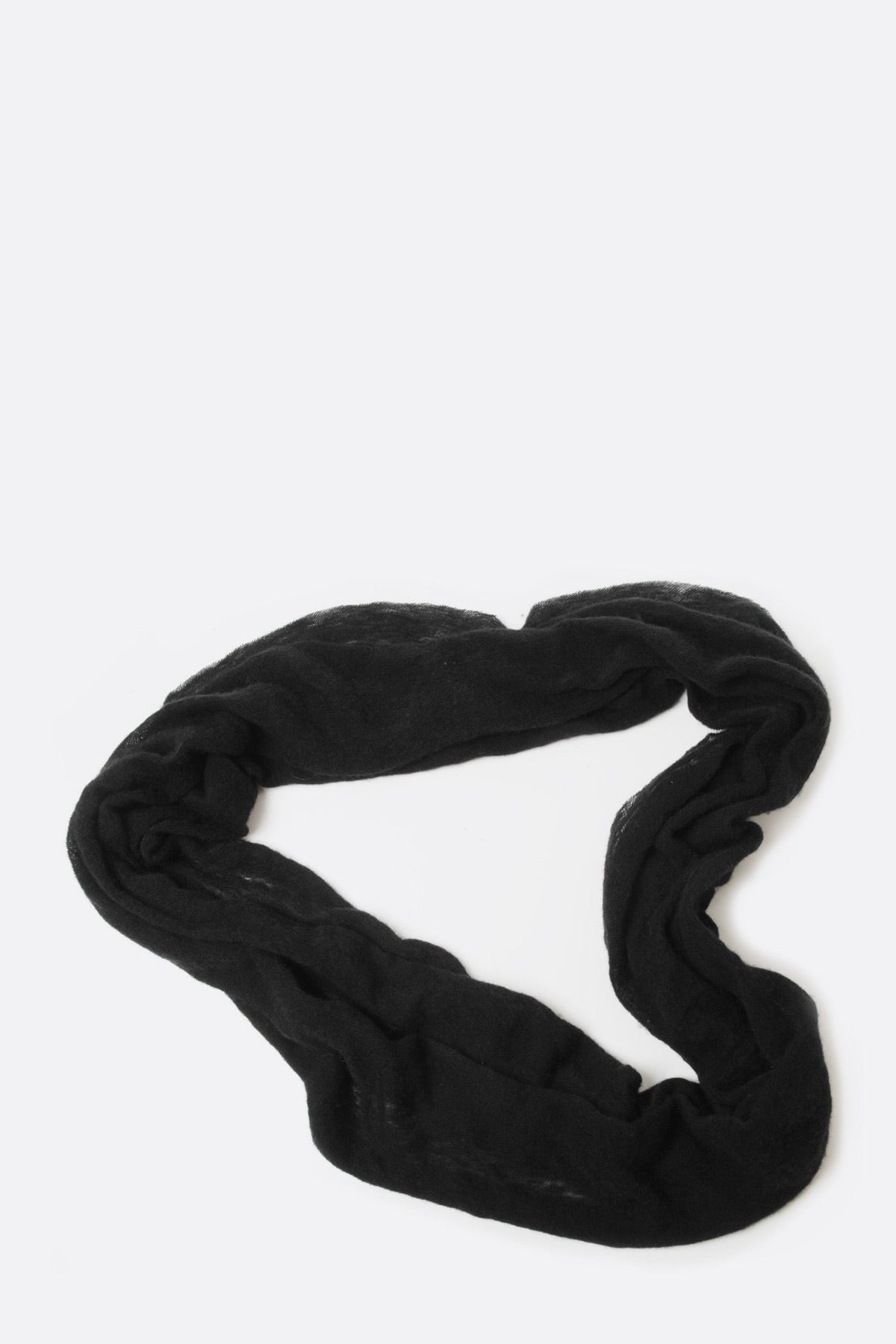 Black Cashmere Tube Scarf by Botto Giuseppe