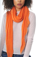 Orange Diamond Shaped Cashmere Scarf - Roztayger
