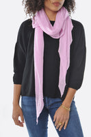 Pink Diamond Shaped Cashmere Scarf - Roztayger