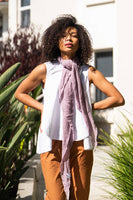Dusty Lavender diamond shaped cashmere scarf - Roztayger