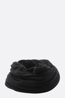 Thick Black Cashmere Tube Scarf