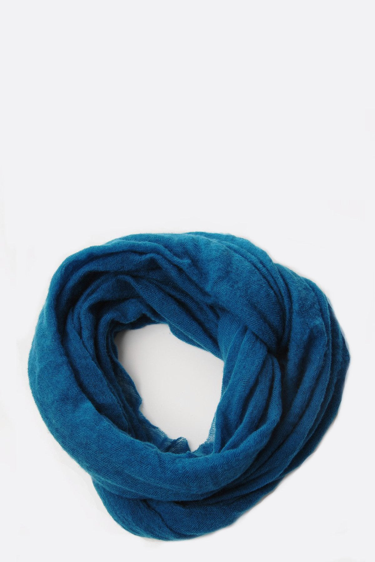 Teal Cashmere Tube Scarf