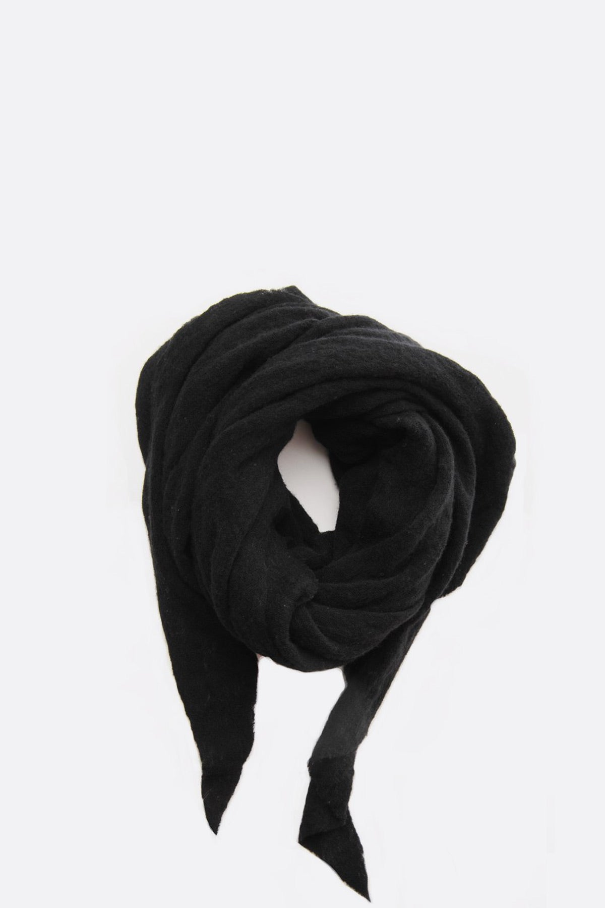 Black Diamond Shaped Cashmere Scarf by Botto Giuseppe